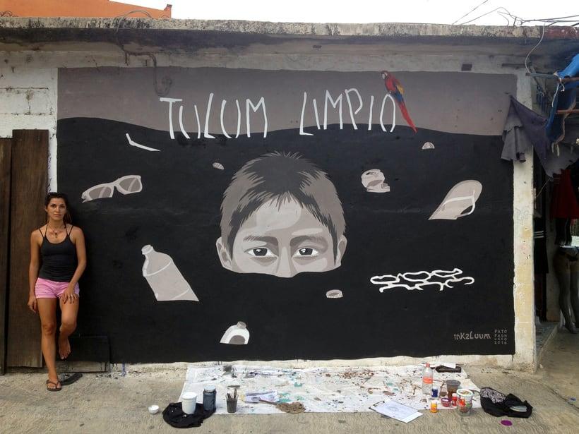 Tulum Limpio / Pintura Mural 5