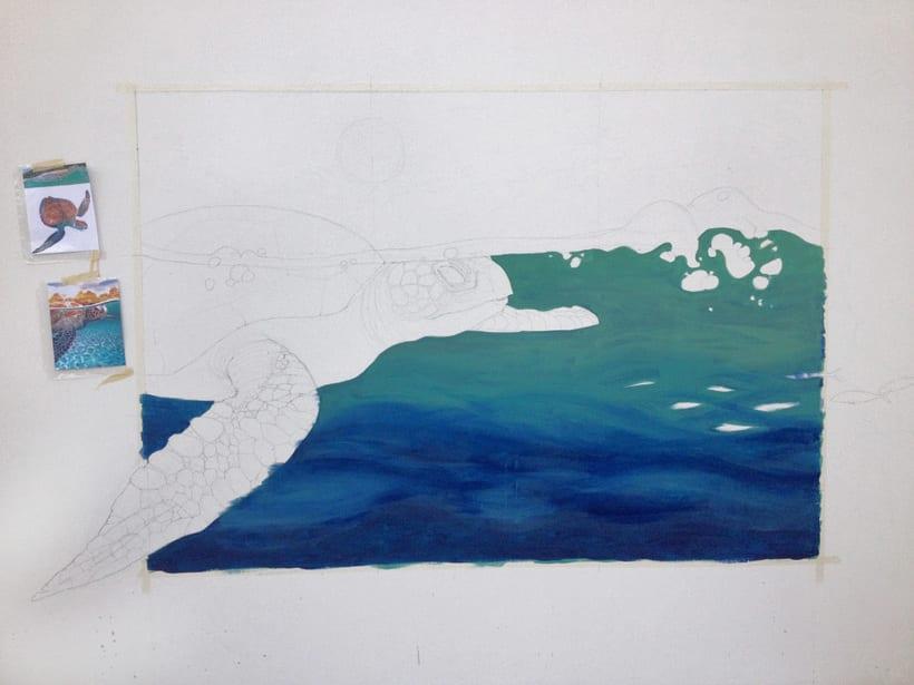 Tortuga marina / Pintura Mural -1