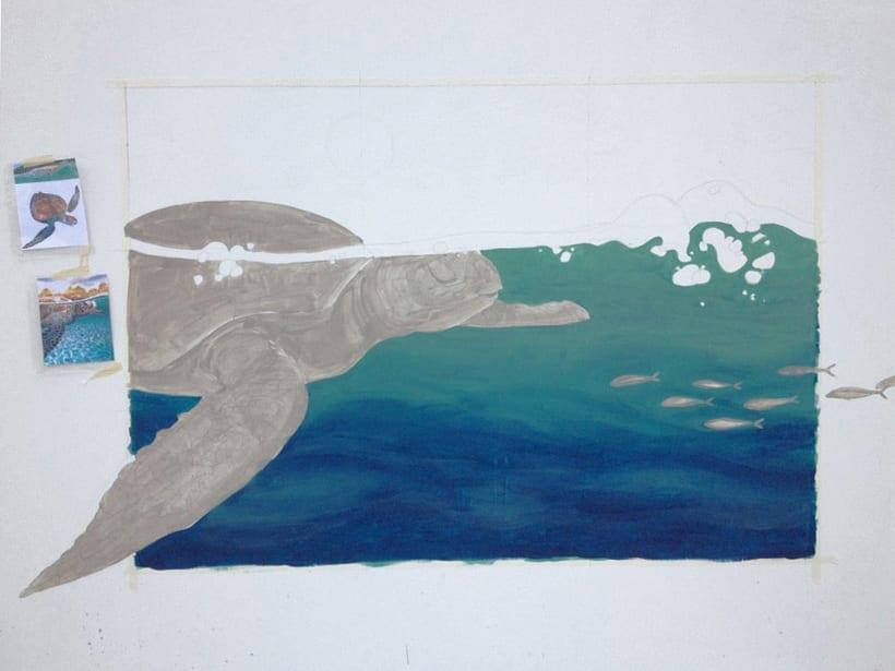 Tortuga marina / Pintura Mural 0