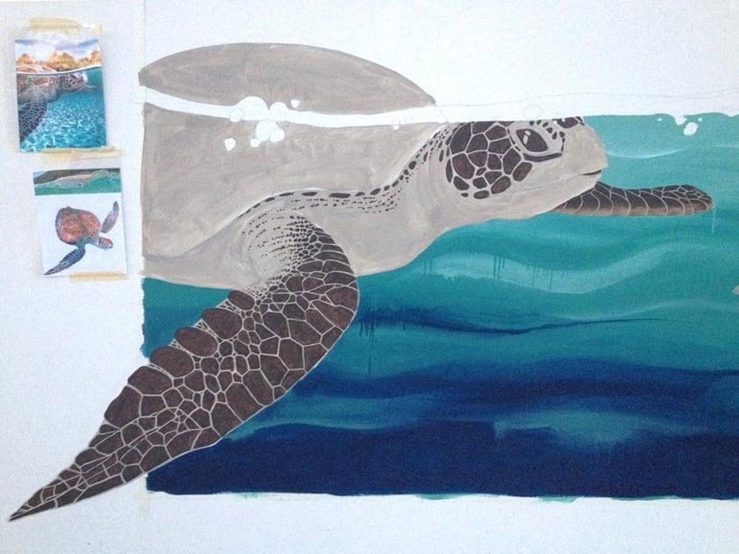Tortuga marina / Pintura Mural 1