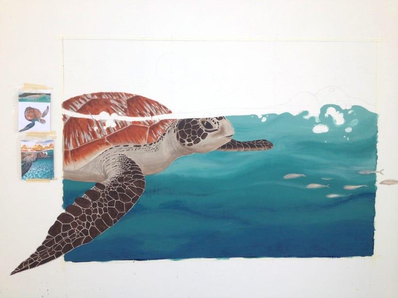 Tortuga marina / Pintura Mural 2