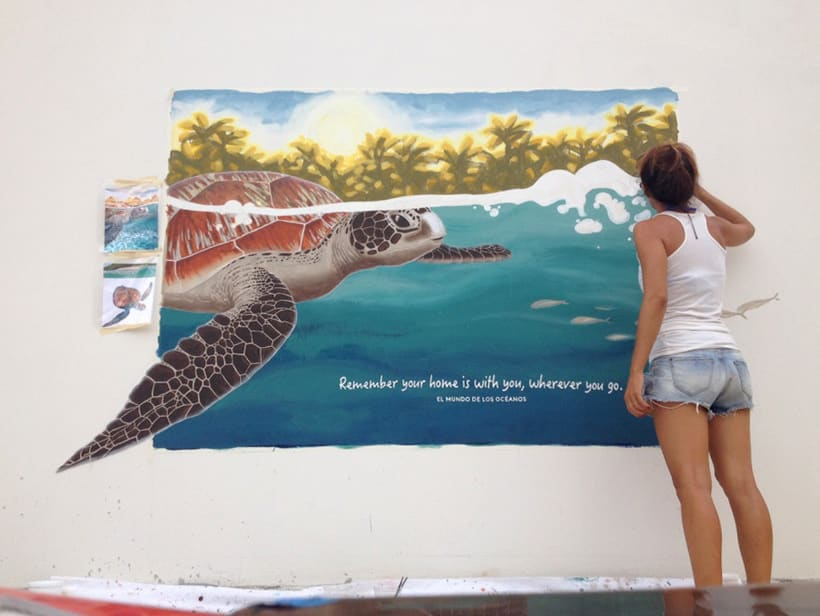 Tortuga marina / Pintura Mural 3