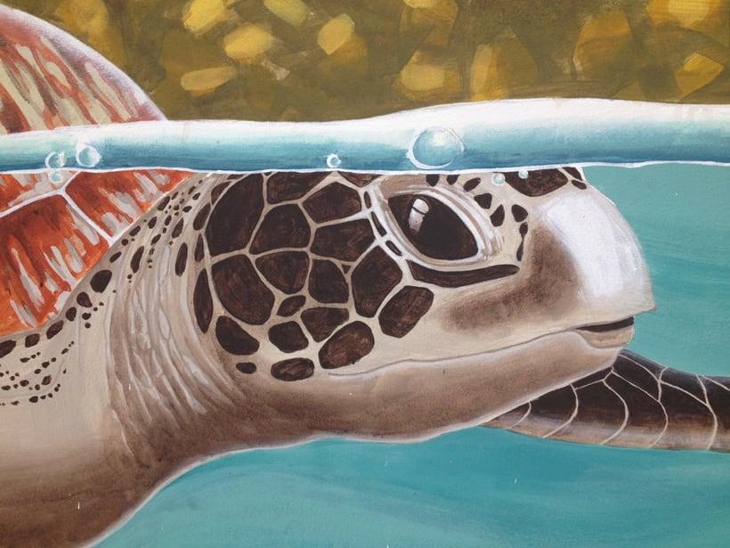 Tortuga marina / Pintura Mural 5
