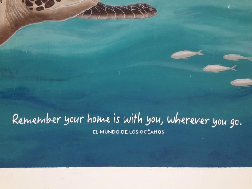 Tortuga marina / Pintura Mural 9