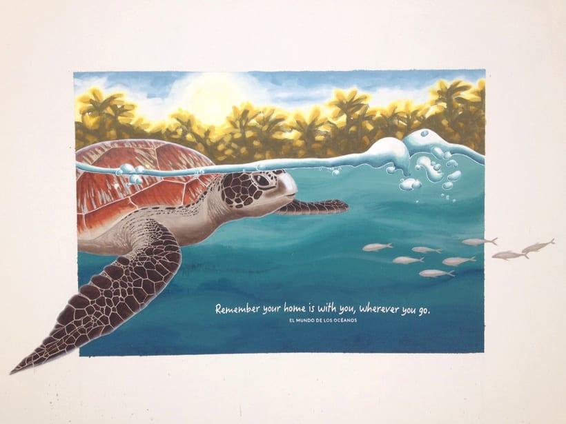 Tortuga marina / Pintura Mural 10