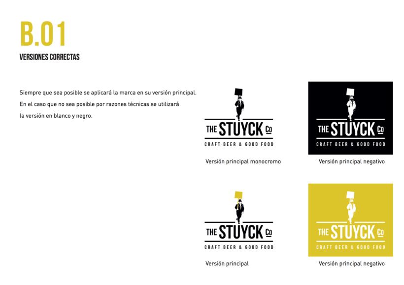 Stuyck - Cervecería Artesana - Identidad corporativa para Bar en Madrid 1