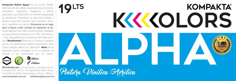 "Imagen de Marca ""Kompakta Kolors""  [ Etiquetas / Packaging ]  1"