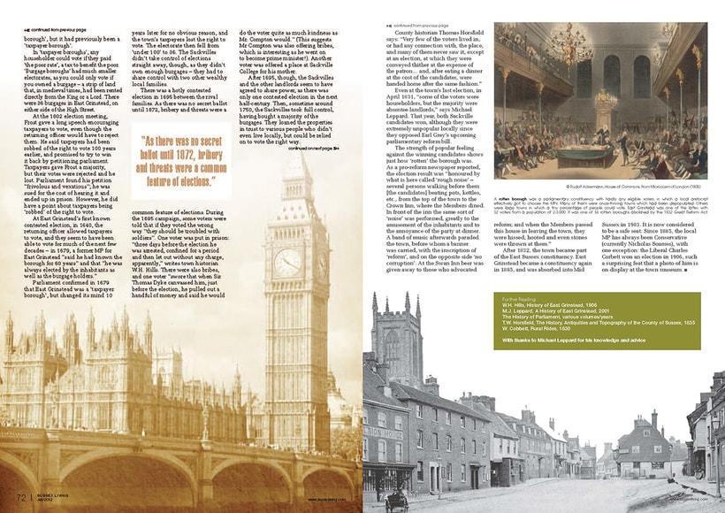 Maquetación de páginas - Sussex Living Magazine 3