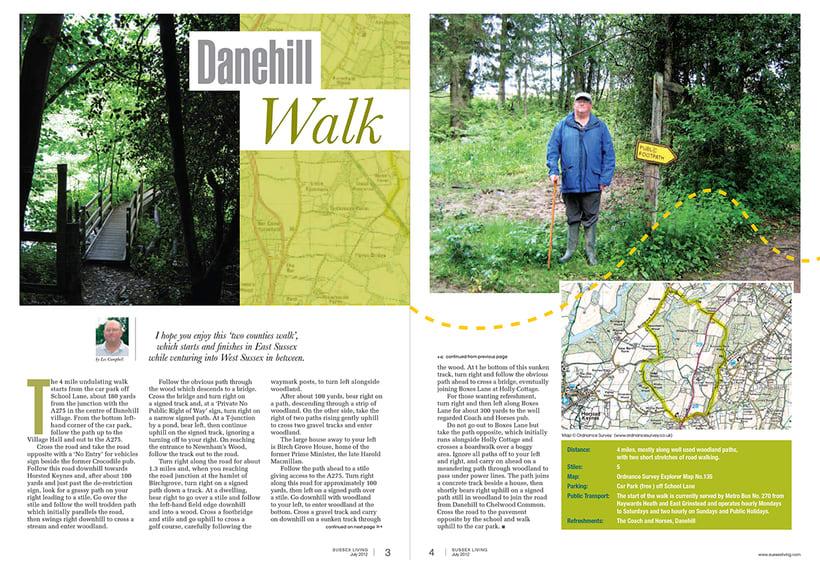 Maquetación de páginas - Sussex Living Magazine 1