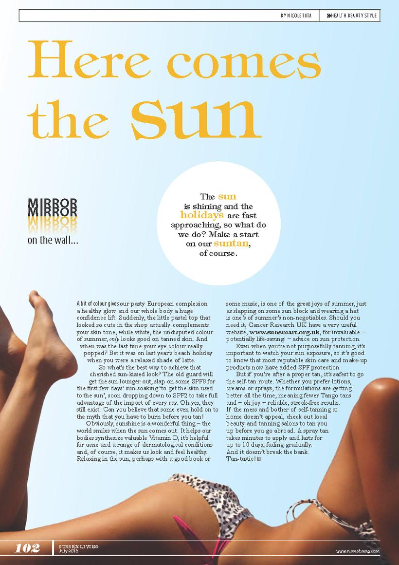Maquetación de páginas - Sussex Living Magazine 0