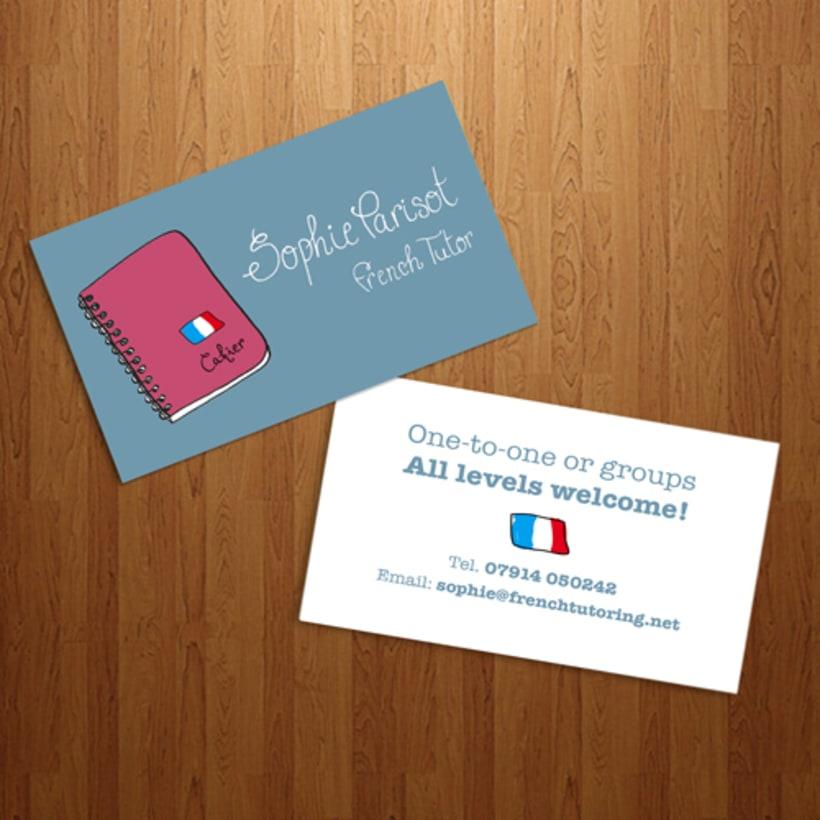 Tarjeta de visita - Sophie Parisot -1