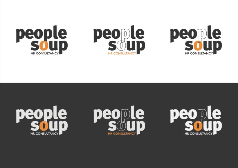 Logotipo: logotipo final y propuestas - People Soup 4