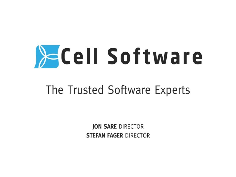 Diseño de presentación de empresa para Power Point e impreso - Cell Software -1