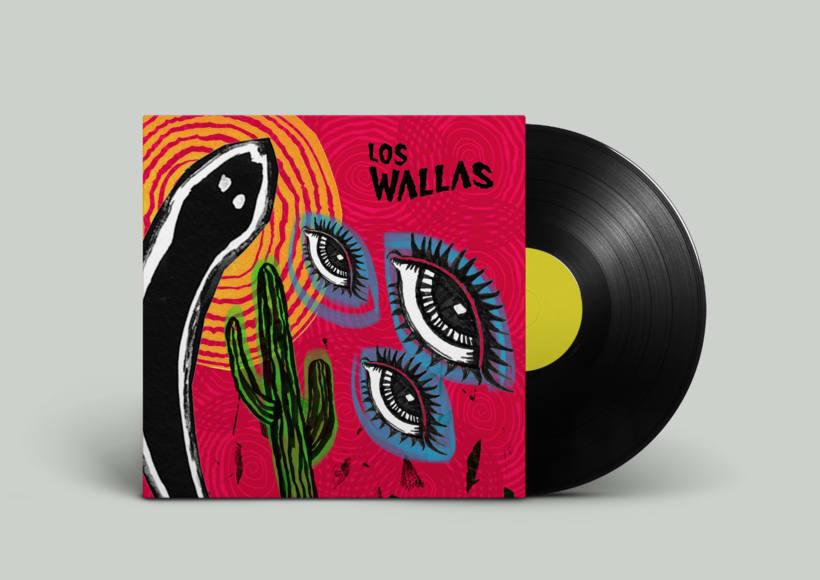 Propuestas de portada para LP - Los Wallas 1