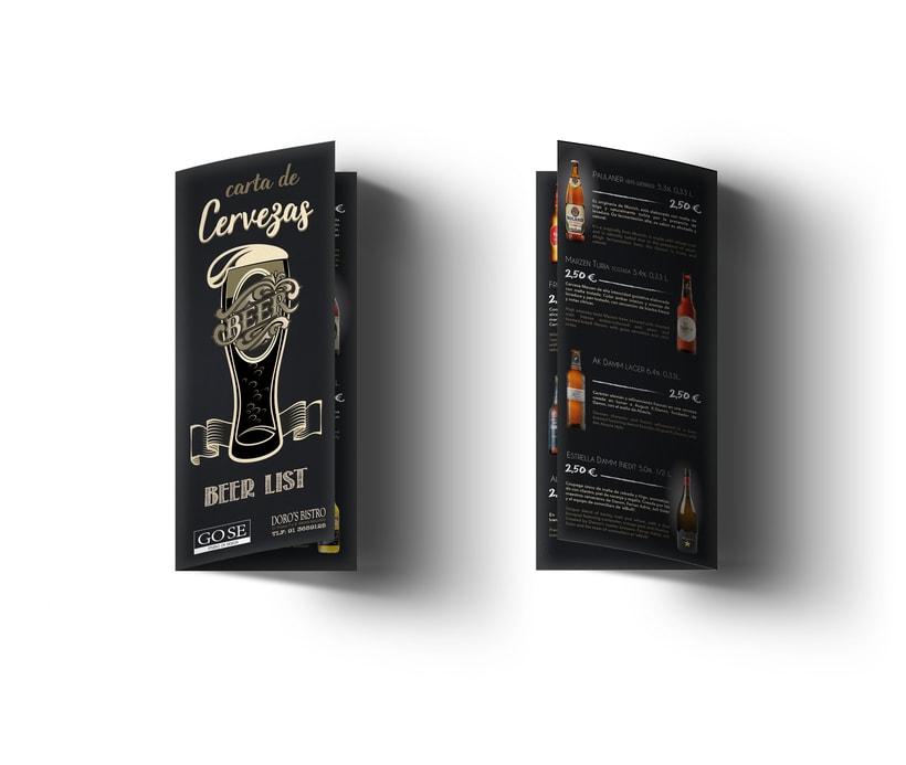 DORO'S BISTRO; LIST BEER 0