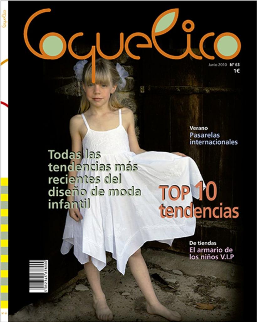 Diseño portada revista Coquelico 0