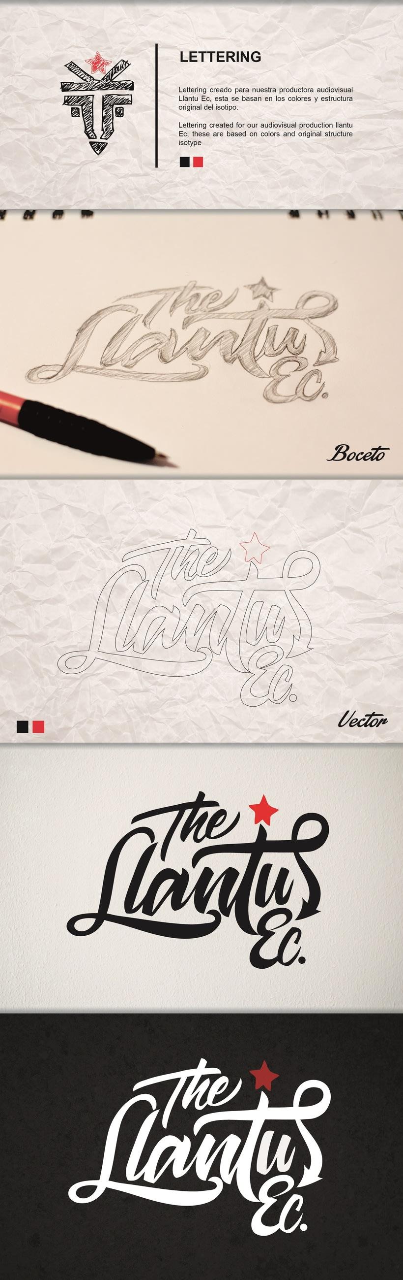 Lettering, Letras - Logotipo Llantu Ecuador 0
