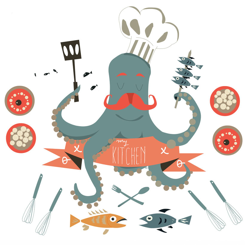 Octopus cooking 2