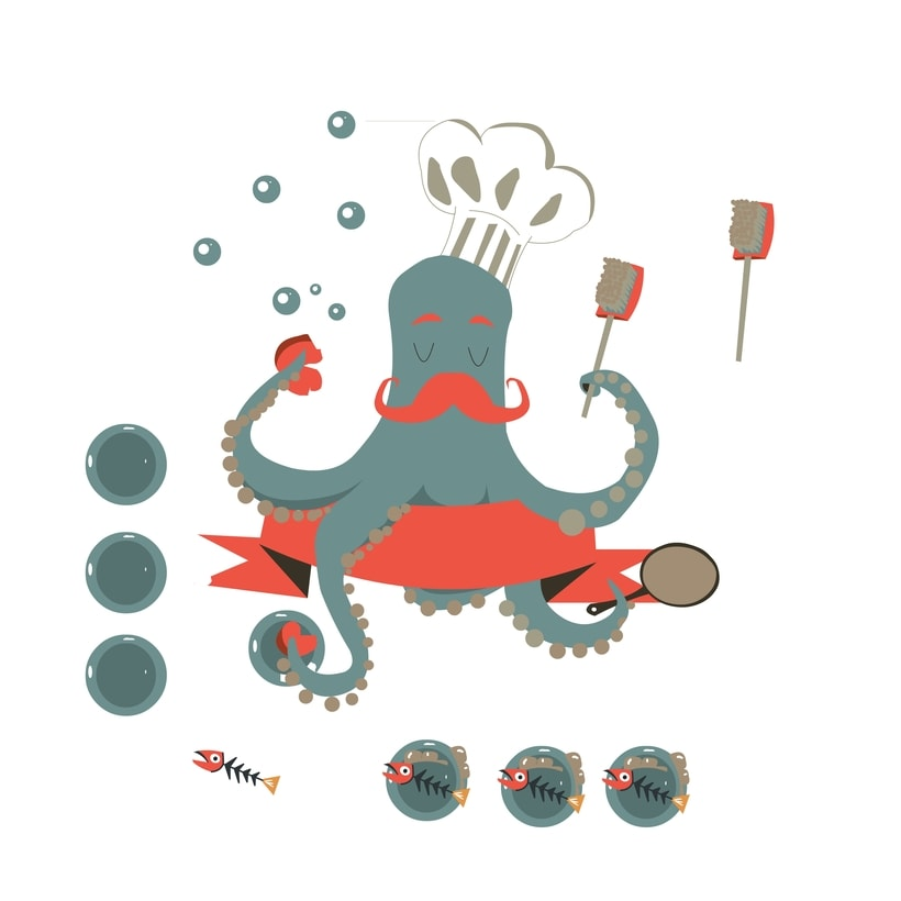 Octopus cooking 5