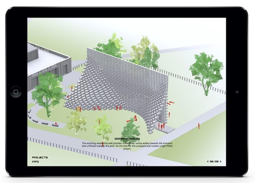 Aplicación Serpentine Pavilion 5