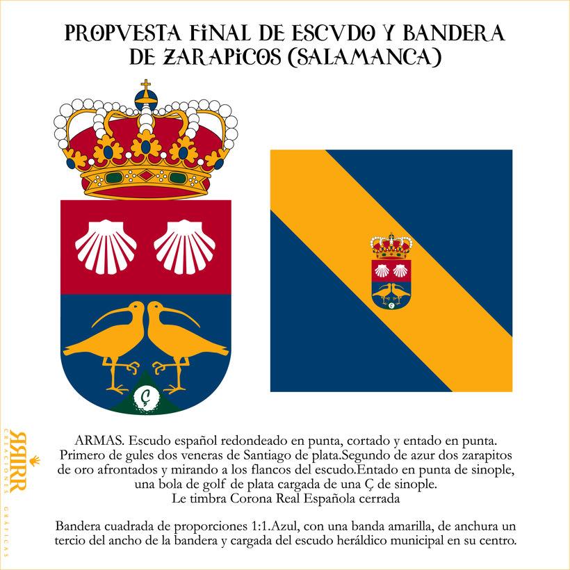 Escudo y Bandera de Zarapicos (Salamanca) -1