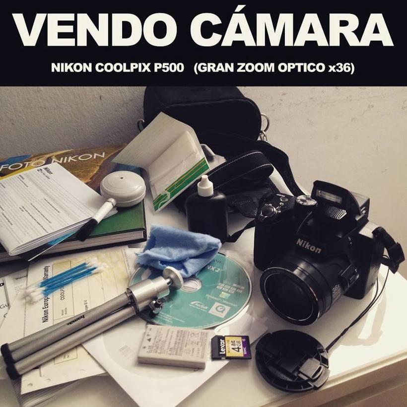 Vendo NIKON COOLPIX P500 (Super zoom) 1