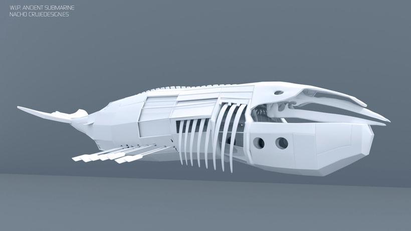Submarine Whale - Blender 3D- 3