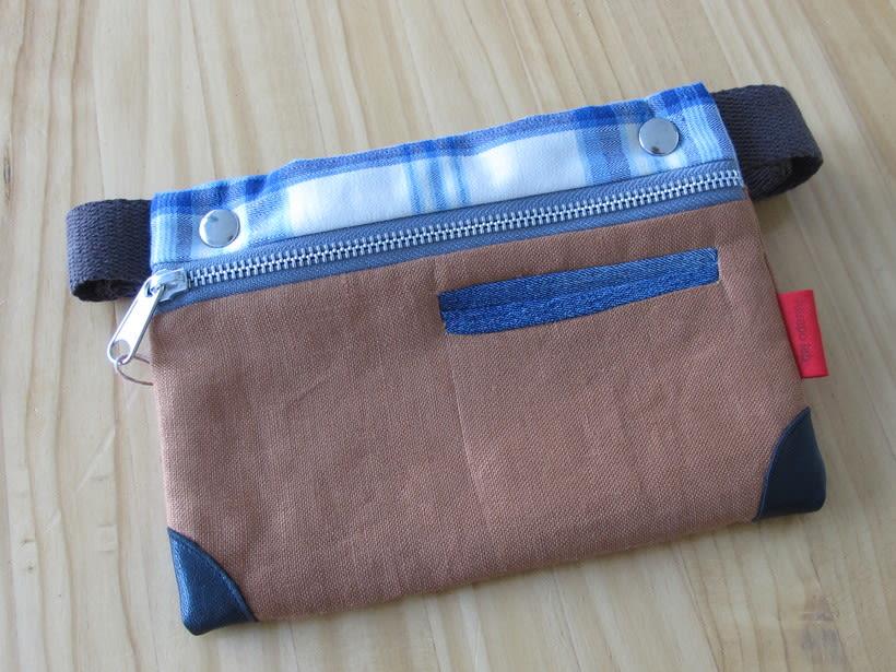 Riñoneras confeccionadas con tejidos reciclados, confeccionadas a mano y con un diseño único. 3
