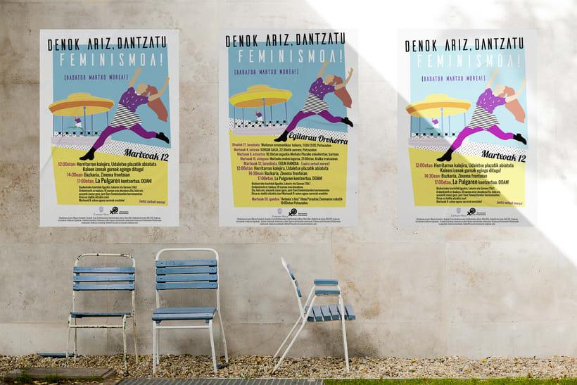 Diseño de cartel 8 de Marzo en Zarautz -1