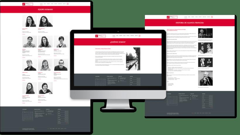 Diseño web para la Alianza Francesa Oviedo 3