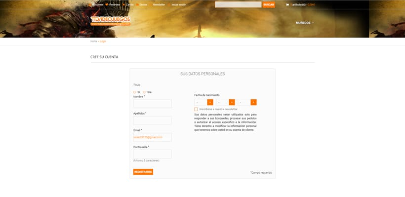Rediseño de formulario de usuario (login registration) 1