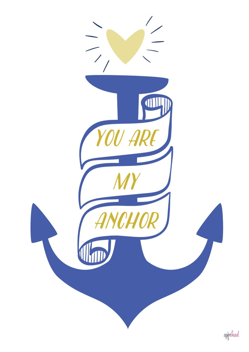 You are my anchor 1