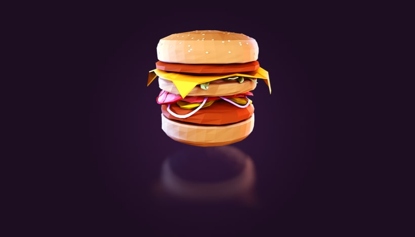 Mc Whopper - Low Poly -1