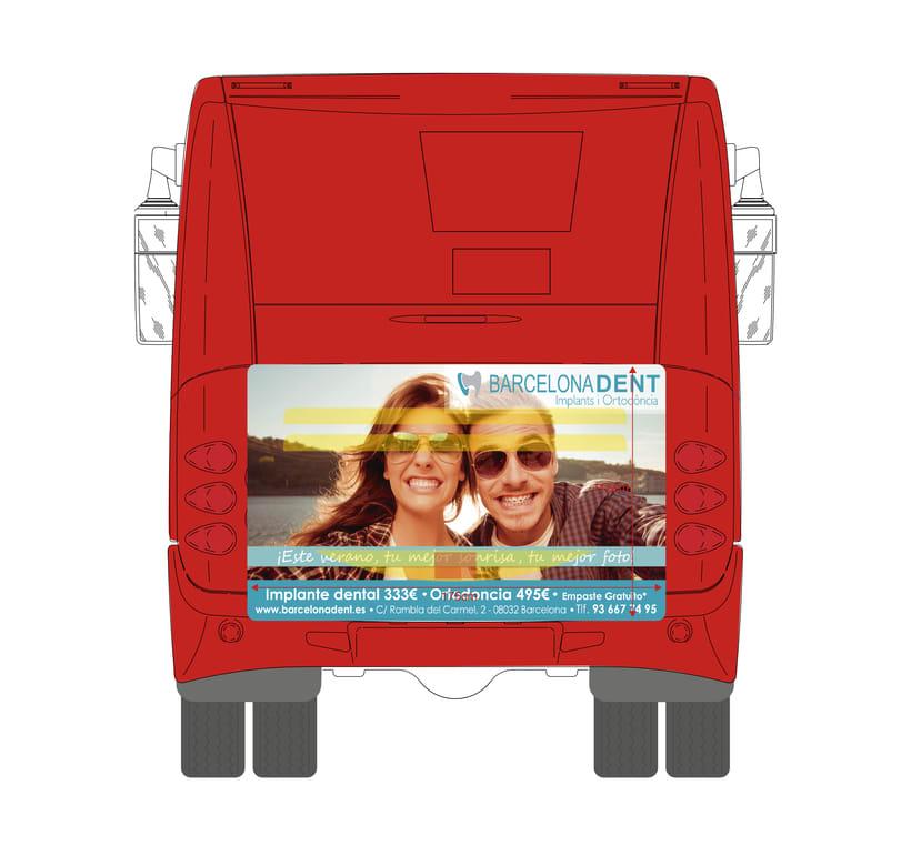 Publicidad Buses Barcelonadent 1