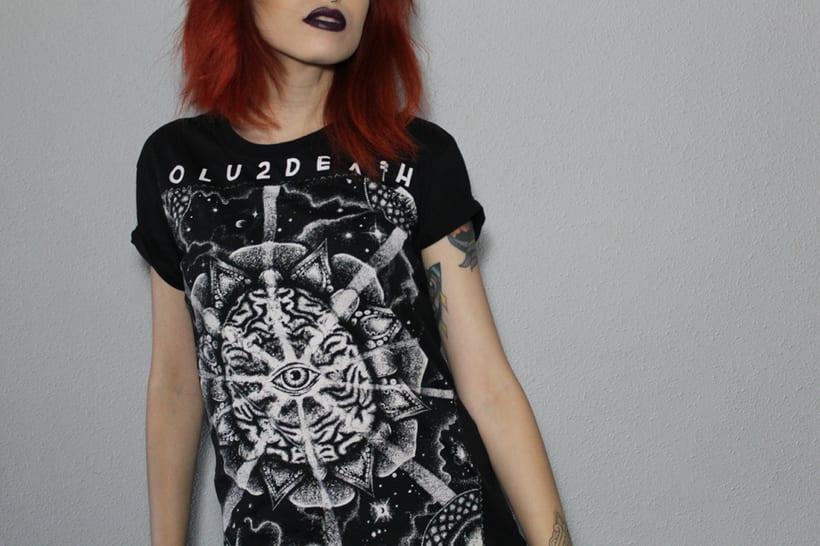Diseño y estampa de camiseta para BOLU2DEATH 2