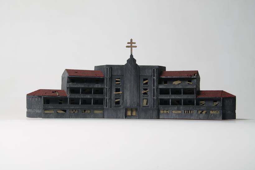 Maqueta sanatorio abandonado 1