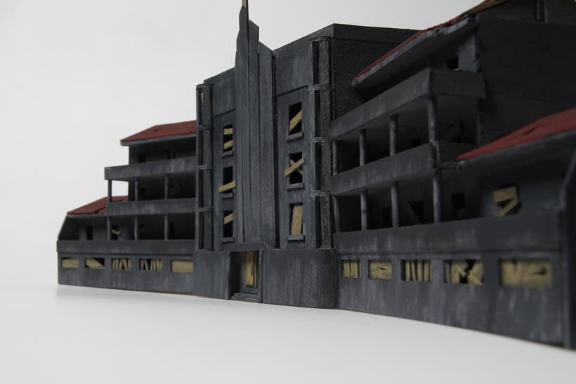 Maqueta sanatorio abandonado 10