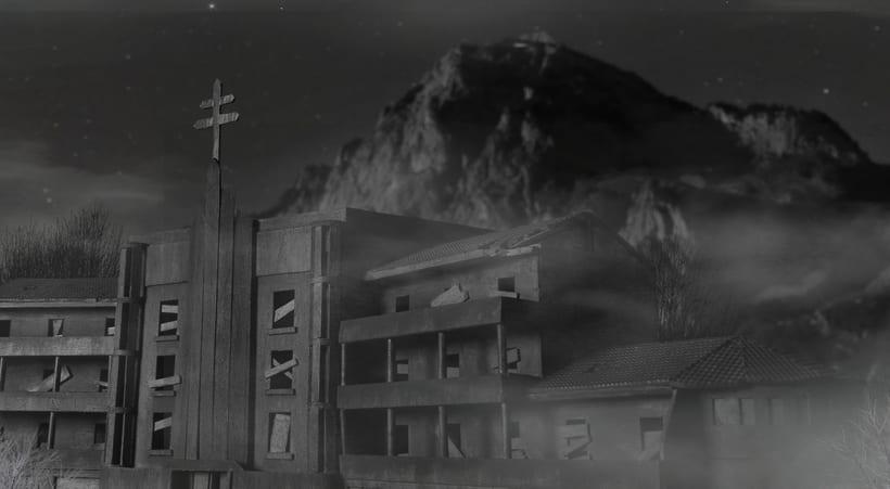 Maqueta sanatorio abandonado 12