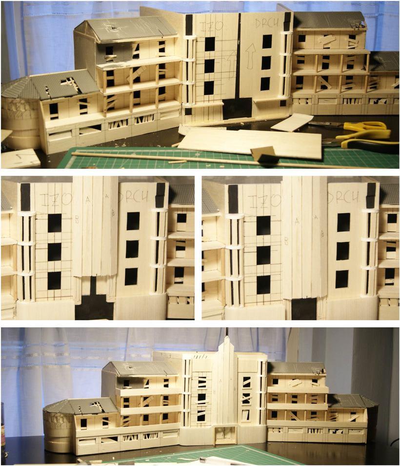 Maqueta sanatorio abandonado 5