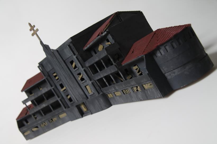 Maqueta sanatorio abandonado 8