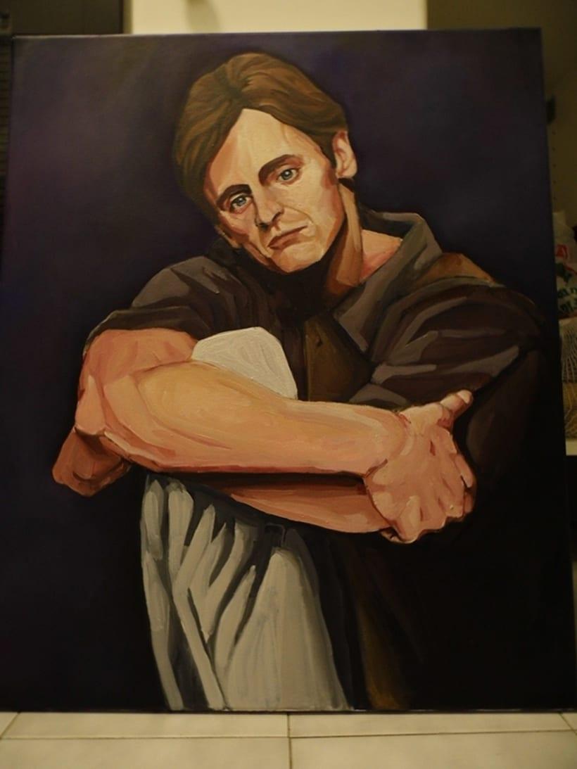 Retrato Mikhail Baryshnikov 1