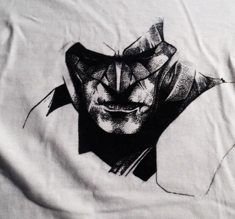 Ilustración Batman y Joker en camiseta 0
