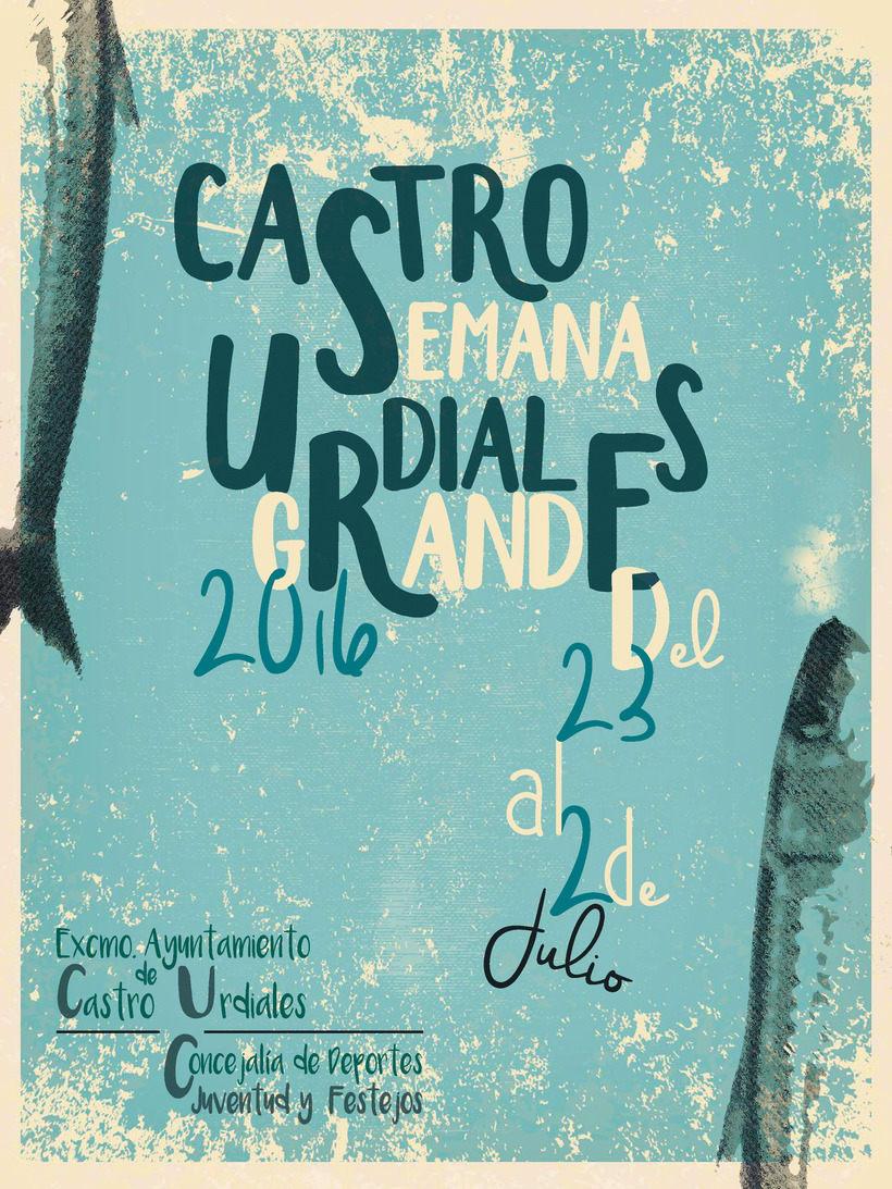 Cartel Fiestas Castro 0