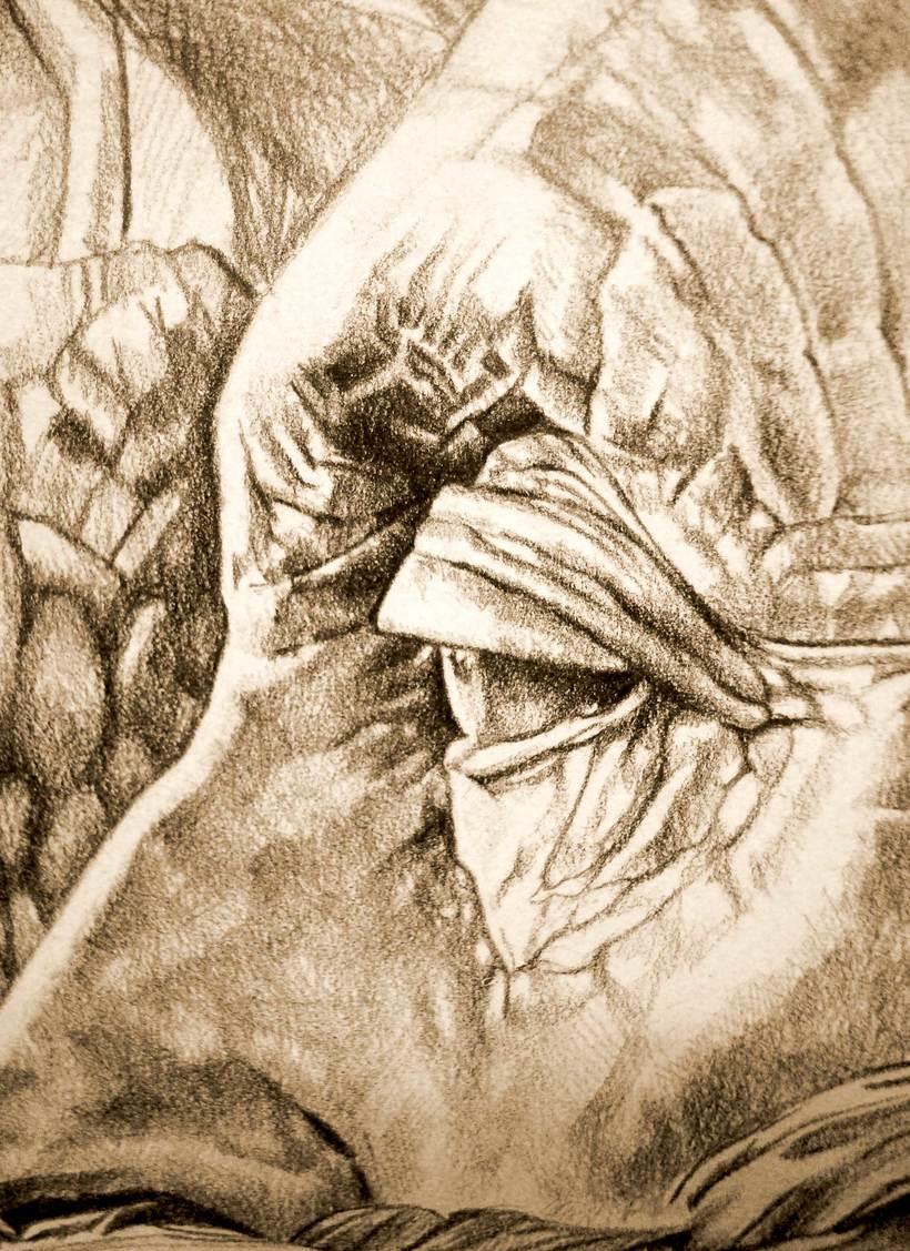 Dibujo Apropiacion de Norman Rockwell 0