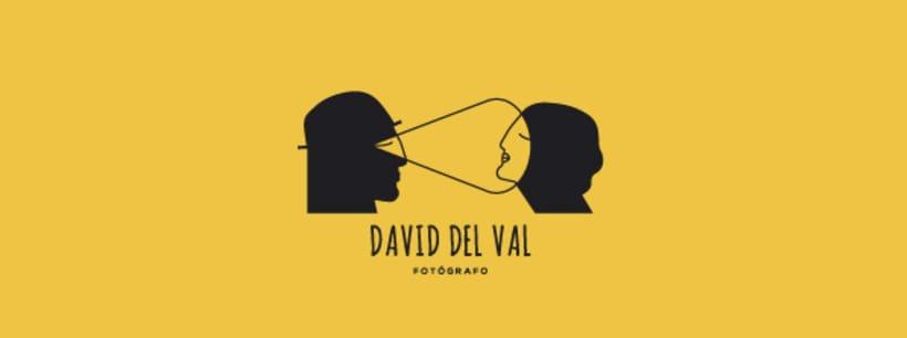 Diseño de logotipo para el fotógrafo David del Val 1