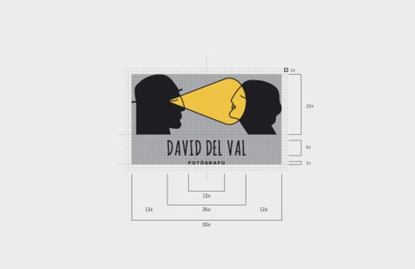 Diseño de logotipo para el fotógrafo David del Val 4