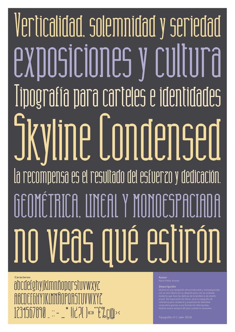 Tipografía Skyline Condensed 1