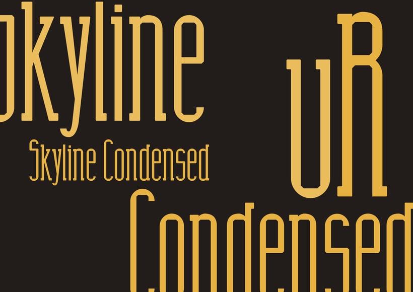 Tipografía Skyline Condensed 8