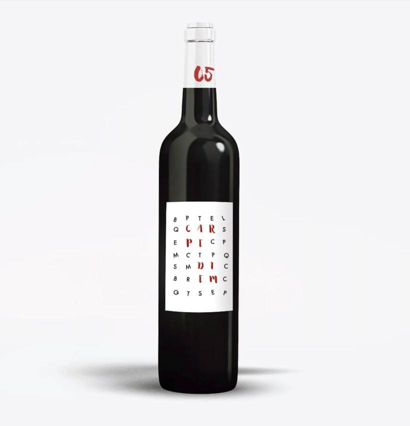 Etiqueta Vino Carpe Diem 0