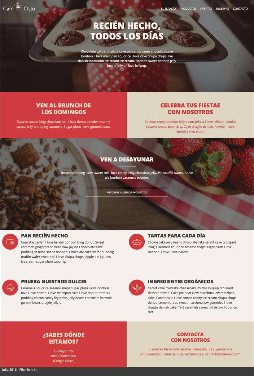 Café Oslo. Una página web responsive 3